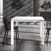 Tavolo 90 x 90 in legno allungabile bianco