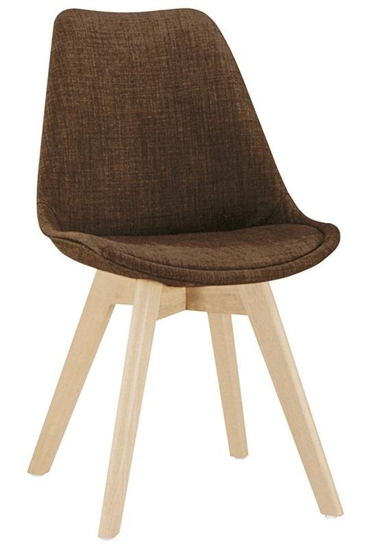 Sedia struttura in legno rivestimento in tessuto