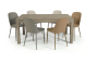 Tavolo in legno nobilitato finitura frassino allungabile