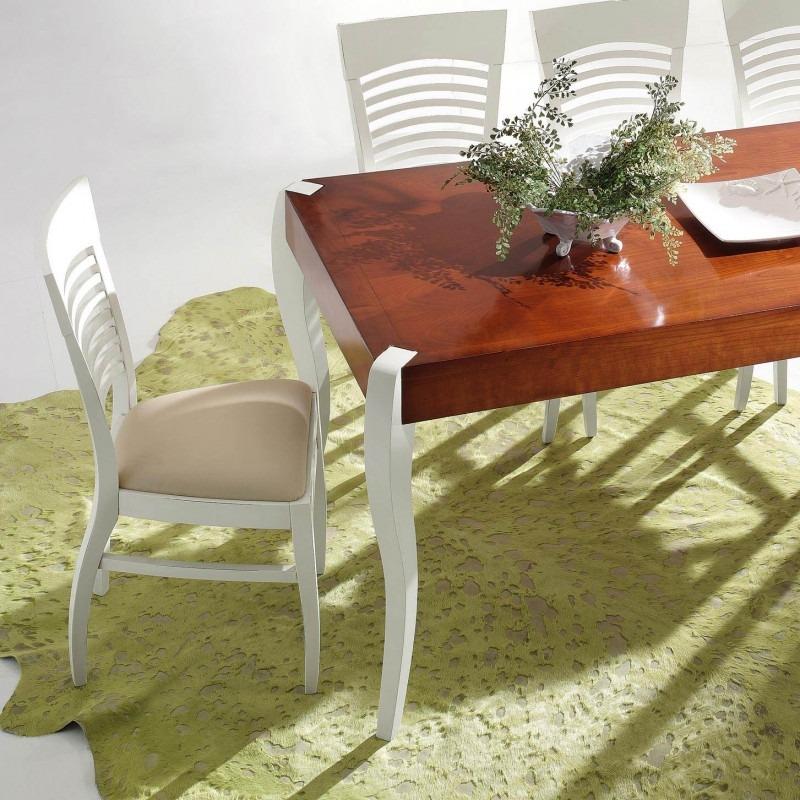 Tavolo rettangolare fisso con gambe smontabili sagomate