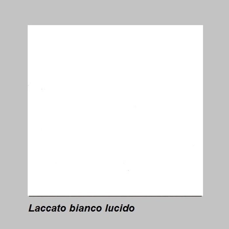 Vetrinetta 2 ante Amalfi bianco lucido