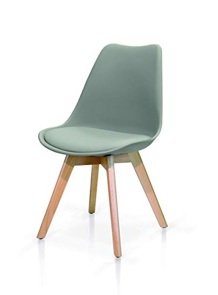 sedia grigia struttura in legno
