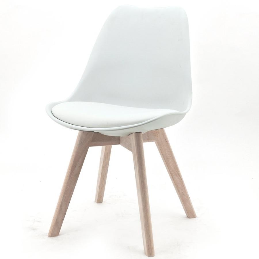 Sedia in polipropilene bianca Tower Wood