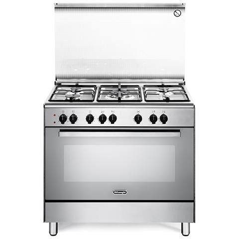 Cucina Elettrica 5 Fuochi a Gas Forno Elettrico Ventilato