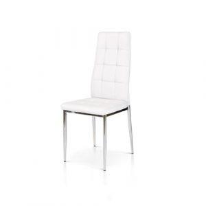 sedia bianca struttura in metallo