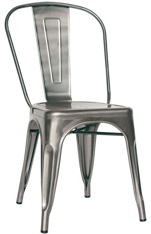 sedia struttura in metallo verniciato con vernice trasparente