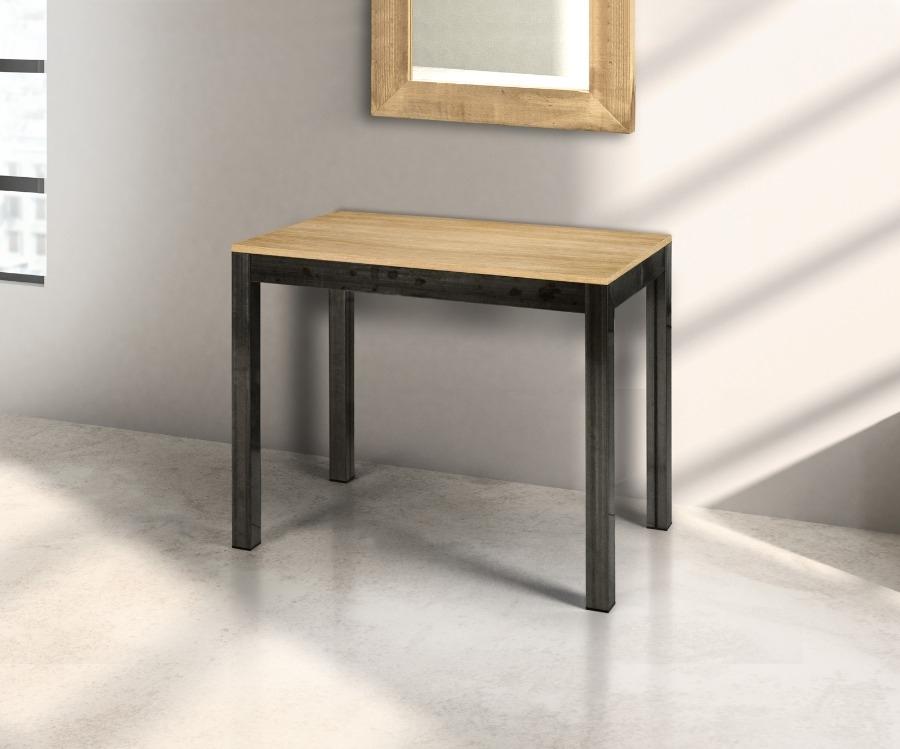 tavolo a console allungabile con 5 allunghi