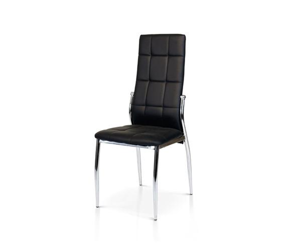 sedia nera struttura metallo