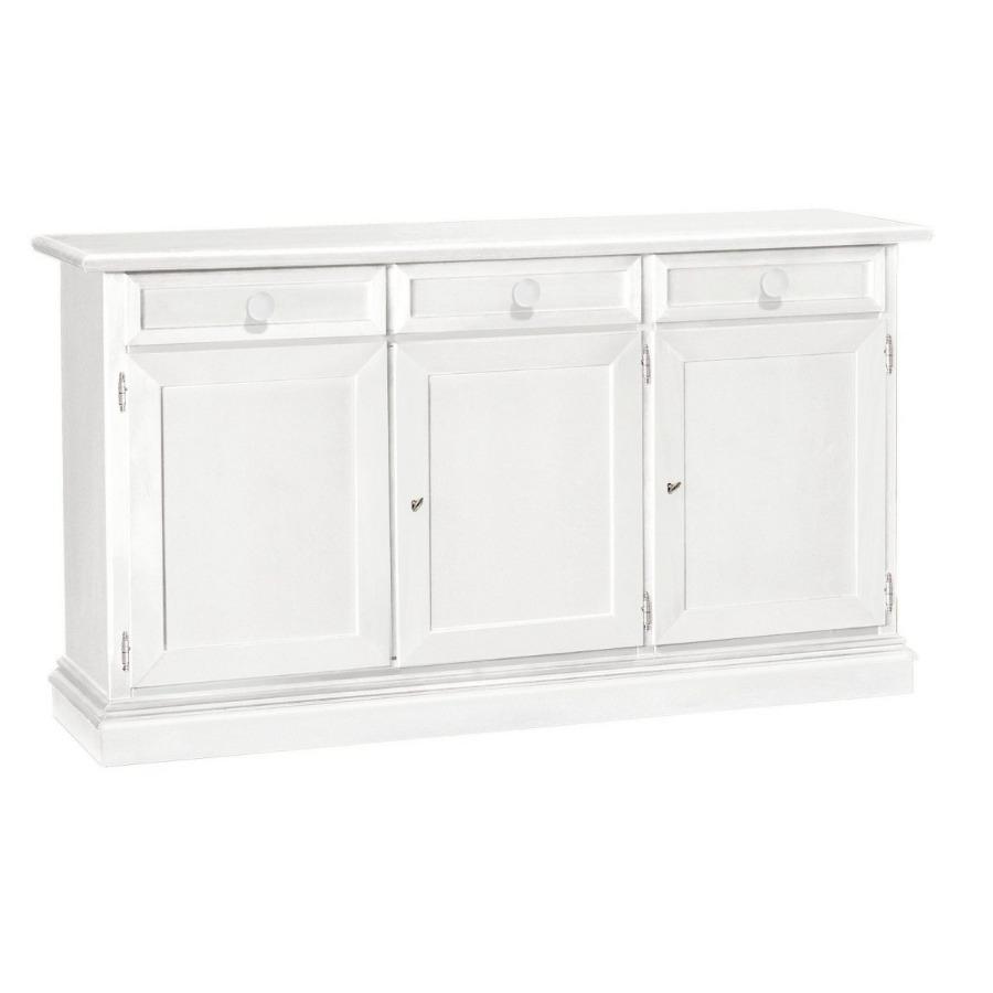 Credenza in legno bianco 3 porte