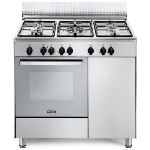 Cucina Elettrica,5 Fuochi a Gas Forno Elettrico Multifunzione Ventilato