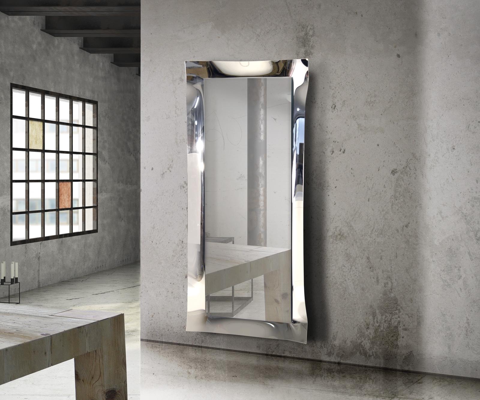 Specchio rettangolare argento