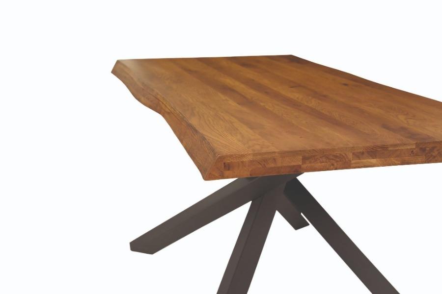tavolo massello rovere nodato