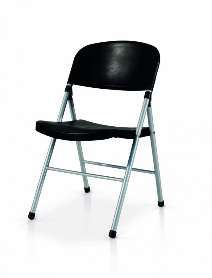 sedia pieghevole nera