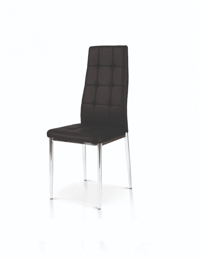 sedia nera struttura in metallo
