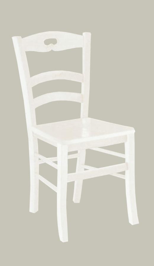 Sedia in stile classico colore laccato bianco