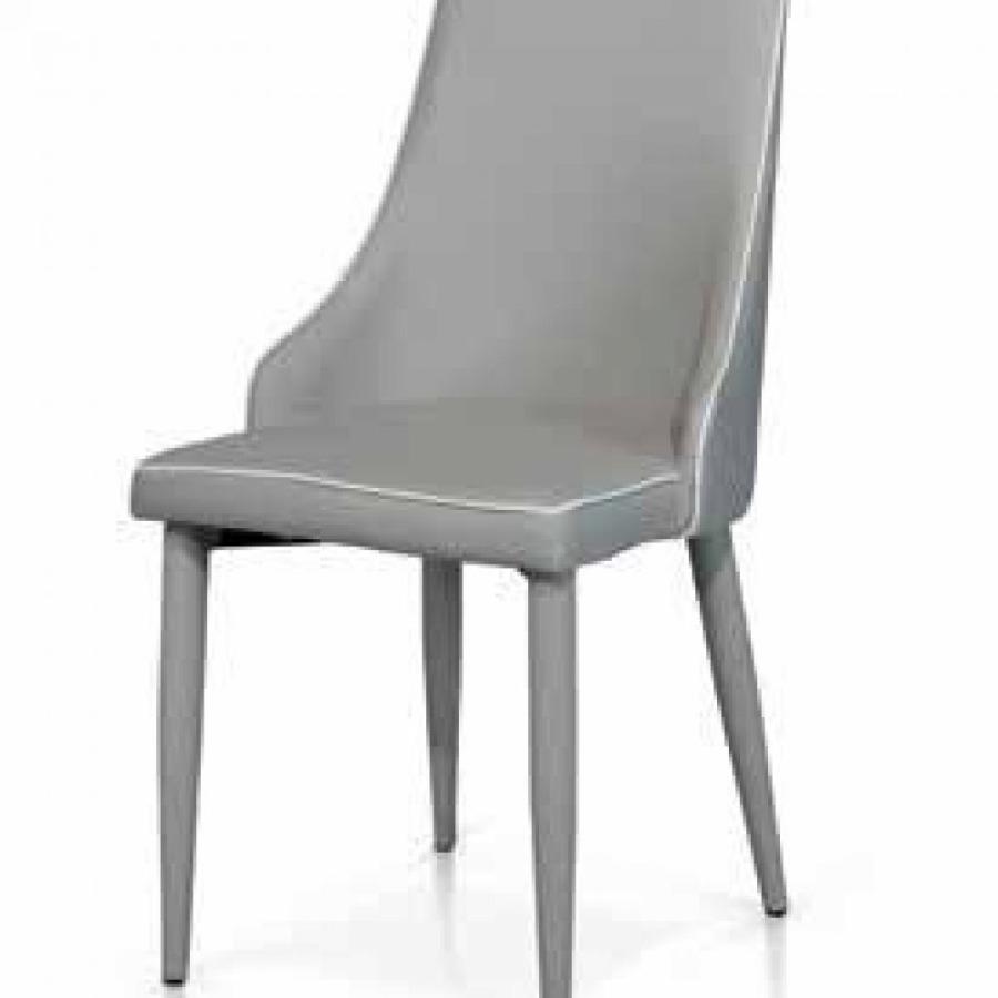 sedia grigia  struttura metallo rivestita