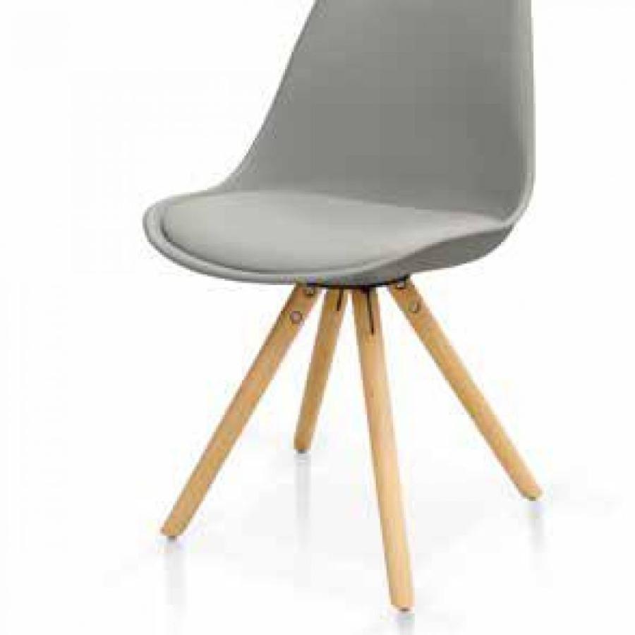 sedia grigia struttura legno