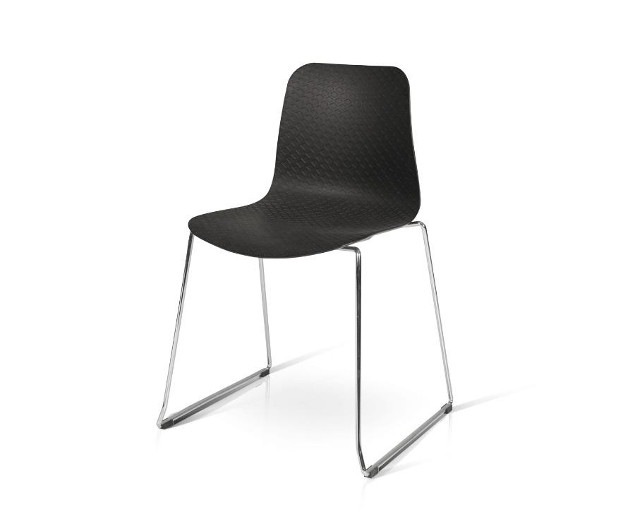 sedia polipropilene acciaio impilabile