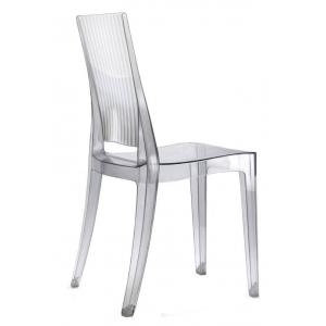 Sedia in policarbonato trasparente quadrata impilabile 694