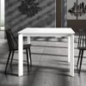 Tavolo 90 x 90 in legno allungabile bianco 833