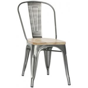 Sedia Struttura in metallo verniciato, seduta in legno 1066-MC001TW