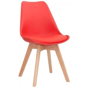 Sedia struttura in legno scocca in polypropilene seduta in ecopelle 1193-PW72 R