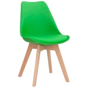 Sedia struttura in legno scocca in polypropilene seduta in ecopelle 1193-PW72 V