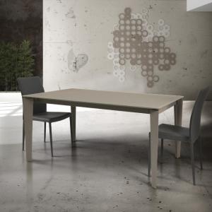 tavolo in vetro tortora allungabile con struttura in metallo art 827 827