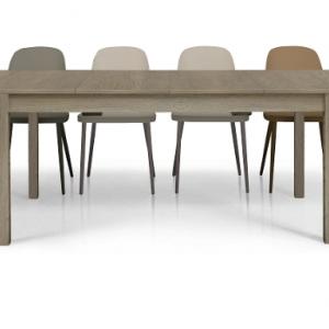 Tavolo in legno nobilitato finitura frassino allungabile 1628