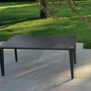 Tavolo in legno effetto marmo e metallo 160X90 cm – 260X90 cm 1682