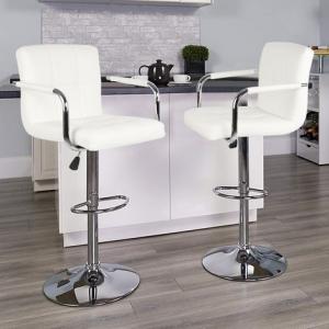 Sgabelli da Bar e da Cucina, Sgabello Lounge con Schienale e braccioli SGAB. quadro bianco