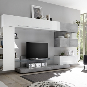 Parete attrezzata moderna mobile tv  LC-S-844052-BICE