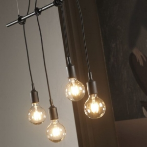 sospensione wire luci nera   4853/s4n