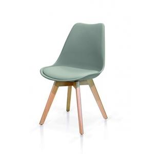 sedia grigia struttura in legno 975