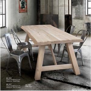 tavolo massello nodo aperto  816