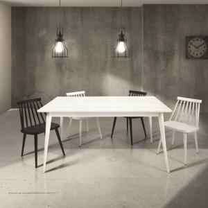 Tavolo in abete spazzolato bianco allungabile 140×85 cm – 190×85 cm 819
