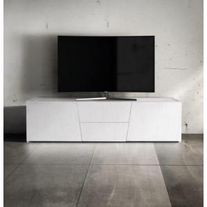 Porta TV abete bianco spazzolato 892