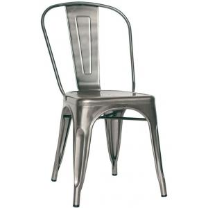 sedia struttura in metallo verniciato con vernice trasparente 969-MC001T