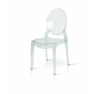 Sedia in policarbonato trasparente impilabile victoria ghost 695