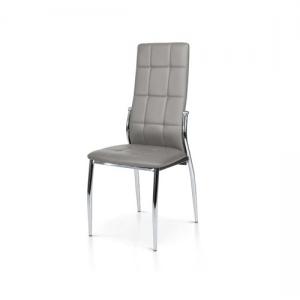 Sedia con struttura in metallo e sedile in ecopelle. 958 G