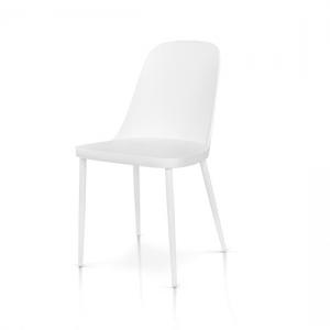 sedie bianche con seduta in polipropilene 987 W