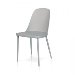sedie grigie con seduta in polipropilene 988 G