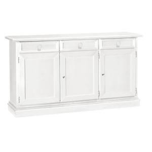 Credenza in legno bianco 3 porte 1382