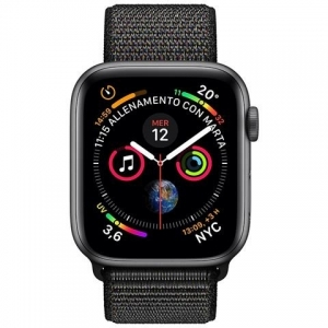 APPLE Watch Series 4 40mm GPS + Cellular in alluminio grigio siderale con Sport Loop nero APPLE Watch Series 4 40mm GPS + Cellular