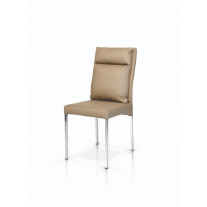 sedie tortora in ecopelle con struttura in metallo cromatosedia tortora ecopelle 953