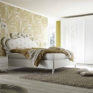 Camera matrimoniale completa  bianca con serigrafia glitterata Cleopatra