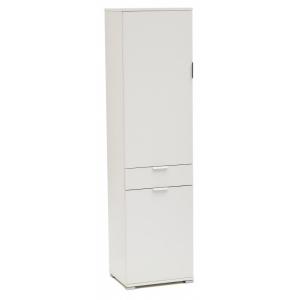 Armadio due ante più cassetto ares 1401 bianco