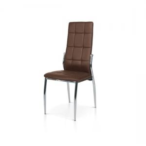 Sedia con struttura in metallo e sedile in ecopelle. 956 M