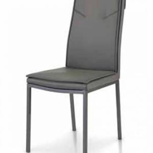 sedie grigie in ecopelle con struttura in metallo verniciato di colore grigio 922