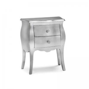 Elegante e raffinato comodino color argento. 1252/Color-Argento